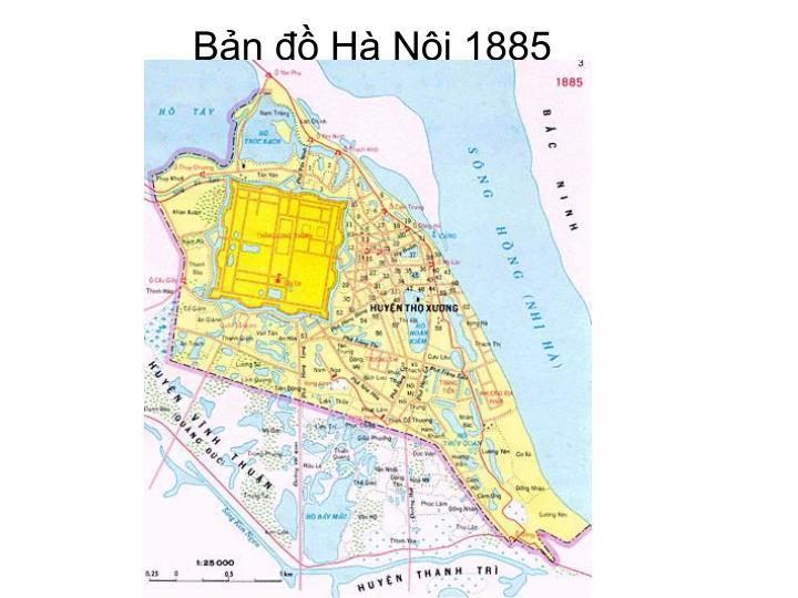Bản đồ Hà Nội 1885