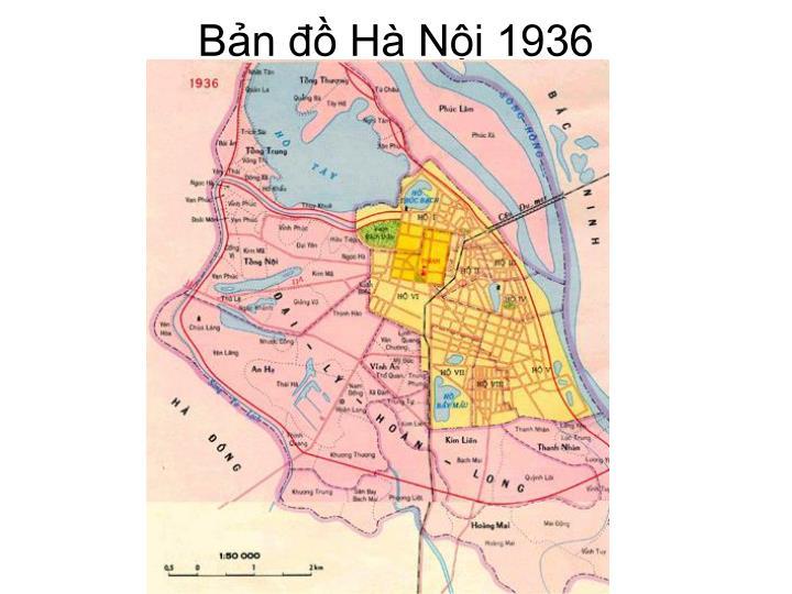 Bản đồ Hà Nội 1936