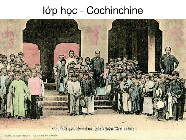 lớp học - Cochinchine