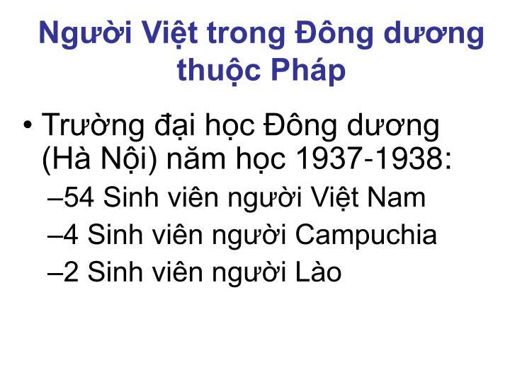 Người Việt trong Đông dương thuộc Pháp