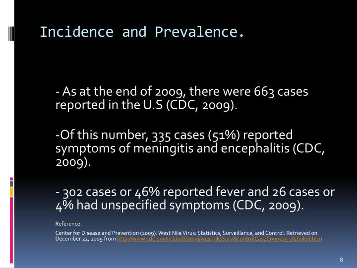 Incidence and Prevalence.