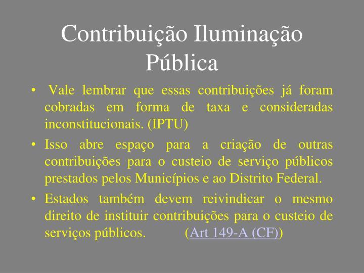 Contribuição Iluminação Pública