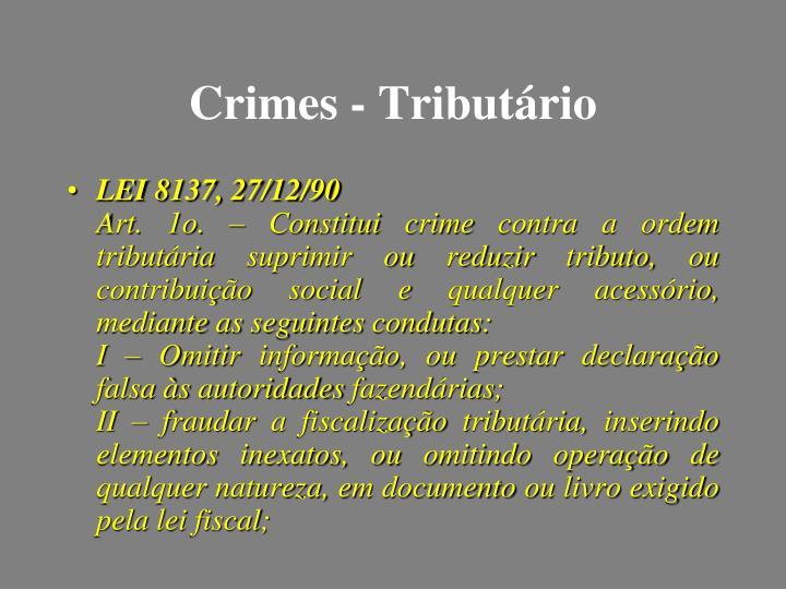 Crimes - Tributário