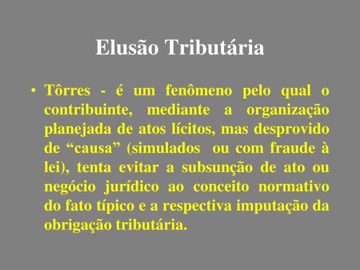 Elusão Tributária