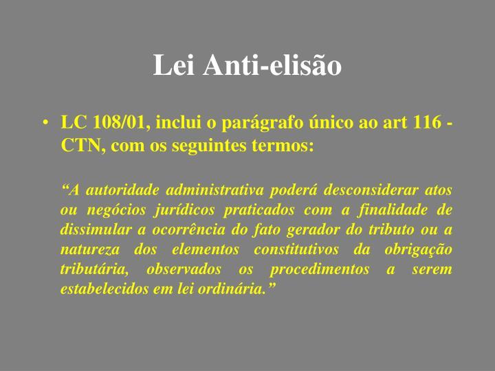 Lei Anti-elisão