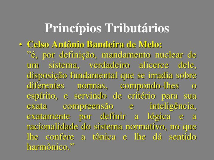Princípios Tributários