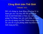 c ng b nh tr n th gi i th gm 1971