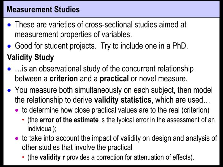 Measurement Studies