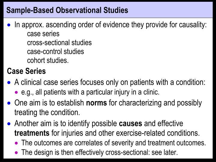 Sample-Based Observational Studies