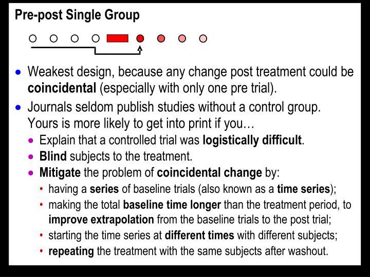 Pre-post Single Group