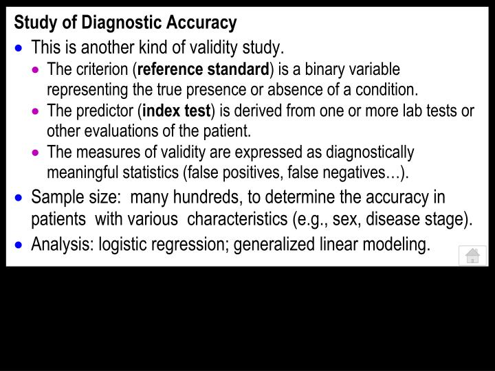 Study of Diagnostic Accuracy
