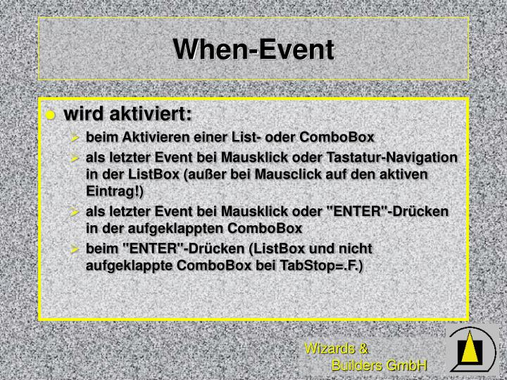 When-Event