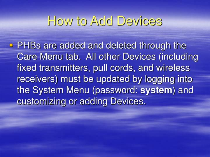 How to Add Devices