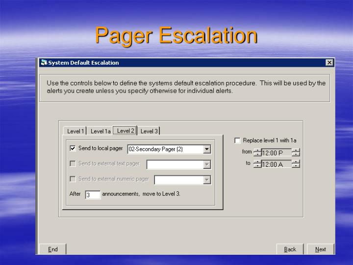 Pager Escalation