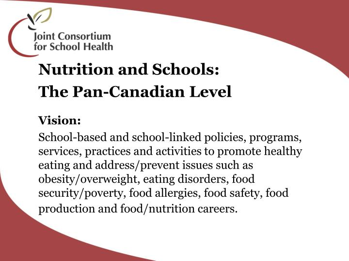 Nutrition and Schools: