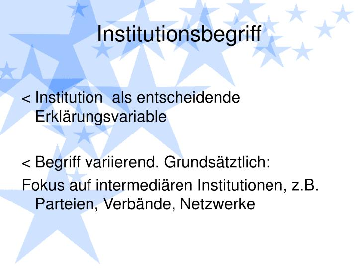 Institutionsbegriff