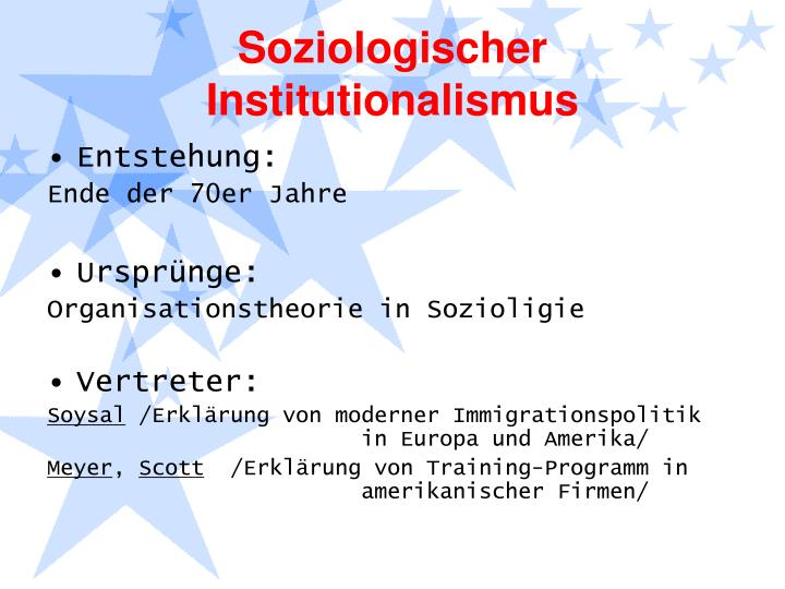Soziologischer Institutionalismus