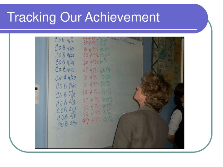 Tracking Our Achievement