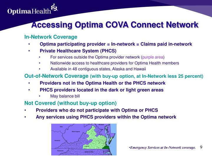 Accessing Optima COVA Connect Network