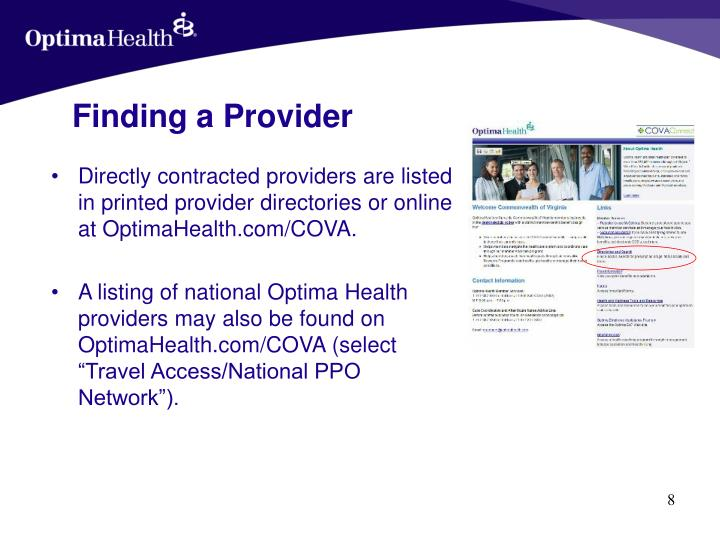 Finding a Provider