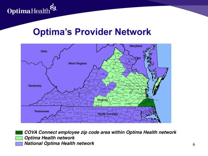 Optima's Provider Network