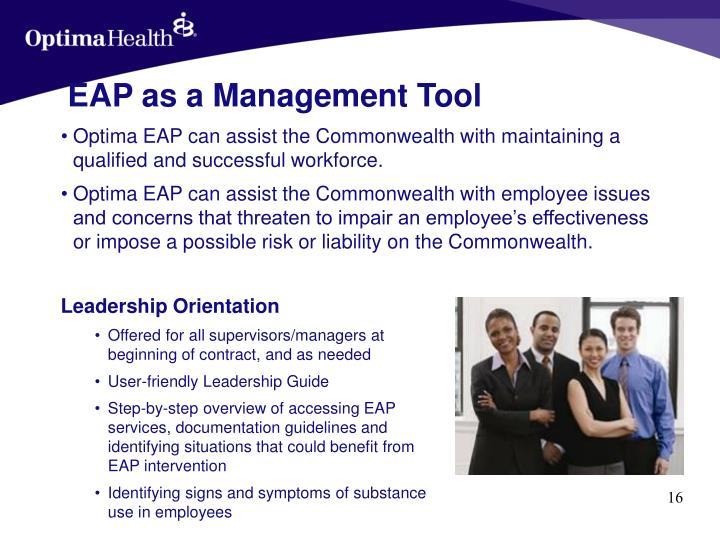EAP as a Management Tool