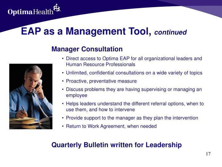 EAP as a Management Tool,