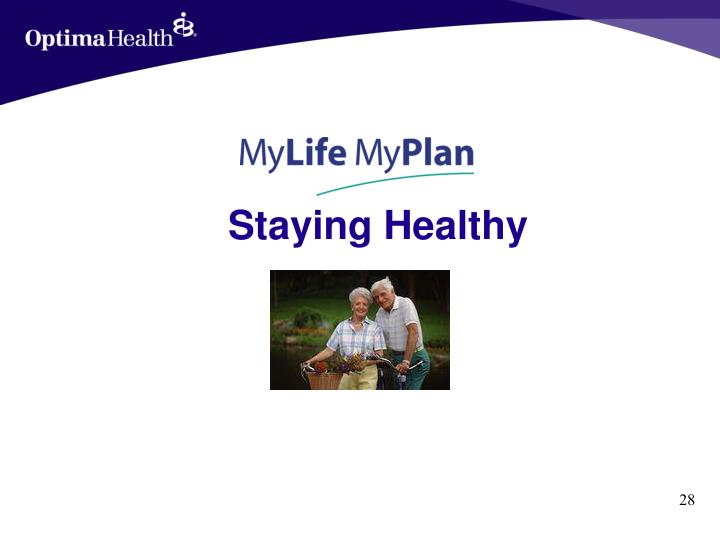 Staying Healthy