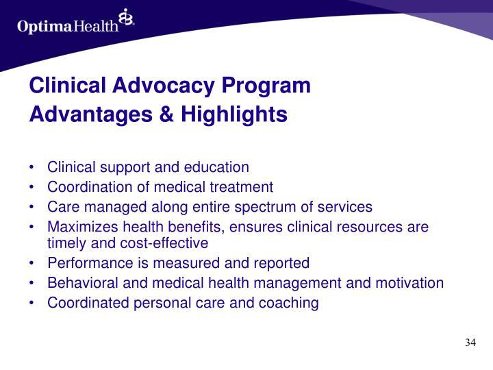Clinical Advocacy Program