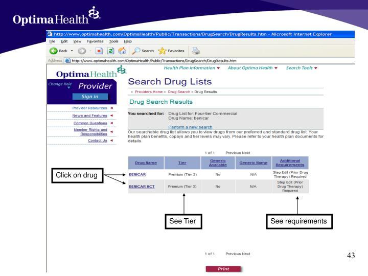 Click on drug