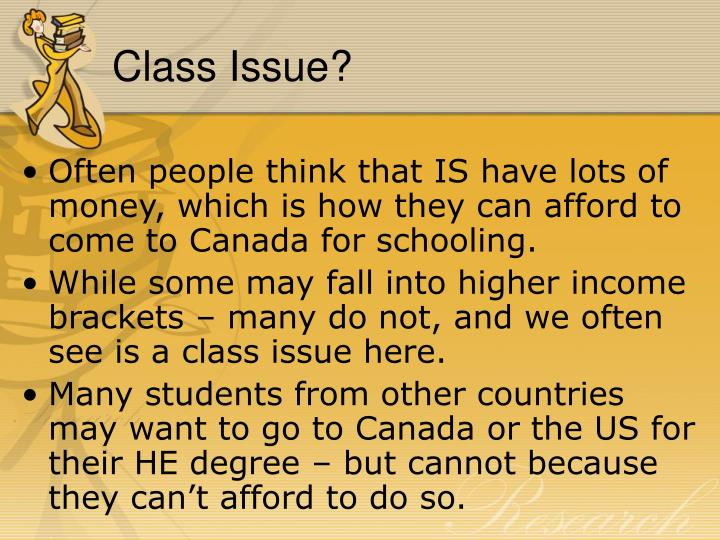 Class Issue?