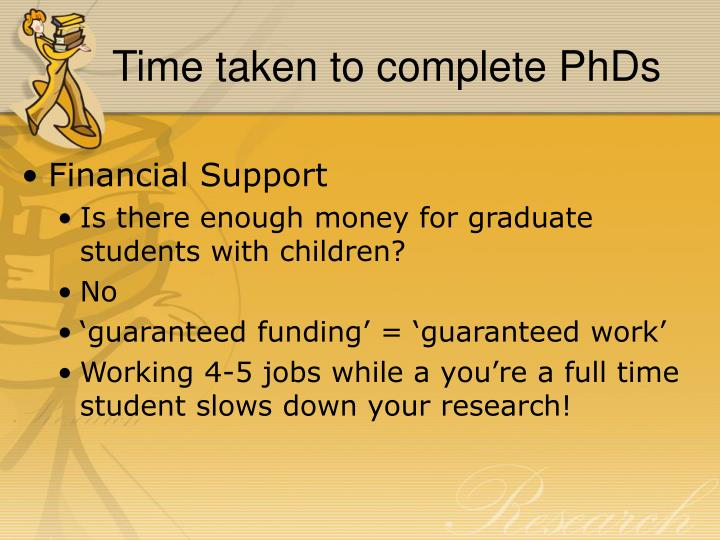 Time taken to complete PhDs