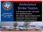 ambulance strike teams