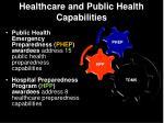 healthcare and public health capabilities