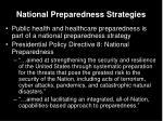 national preparedness strategies