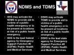 ndms and tdms