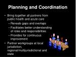 planning and coordination