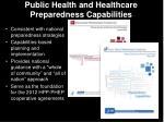 public health and healthcare preparedness capabilities1