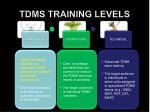 tdms training levels