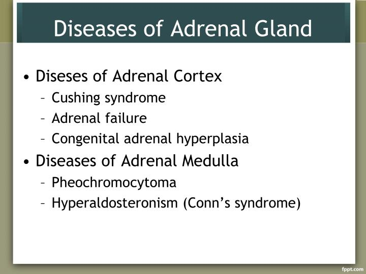 Diseases of adrenal gland