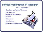 formal presentation of research1