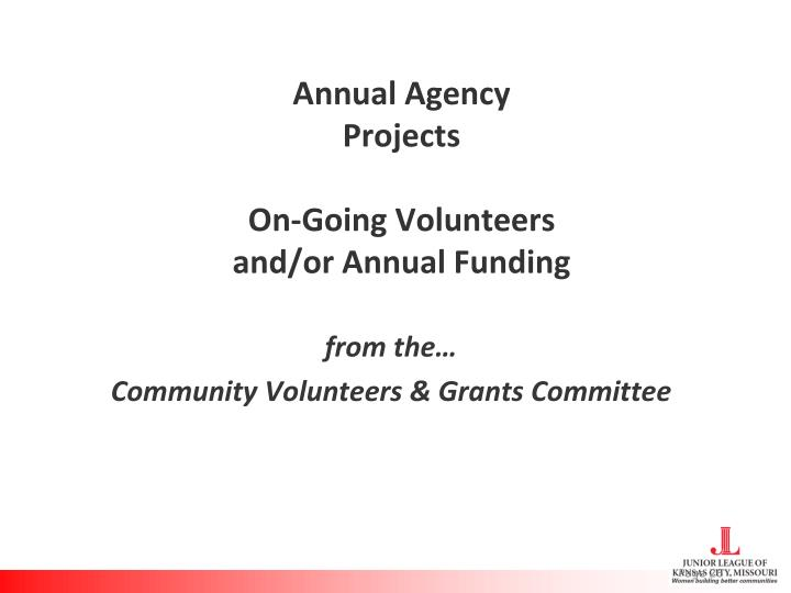 Annual Agency