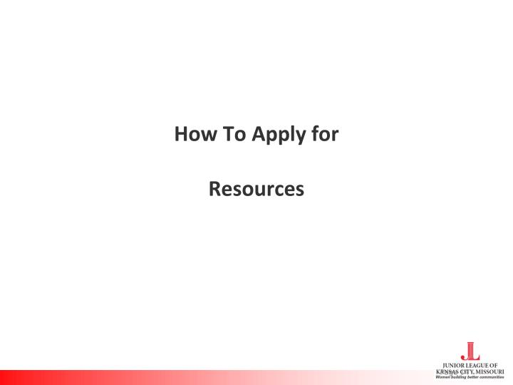 How To Apply for