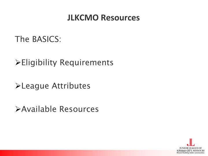 JLKCMO Resources