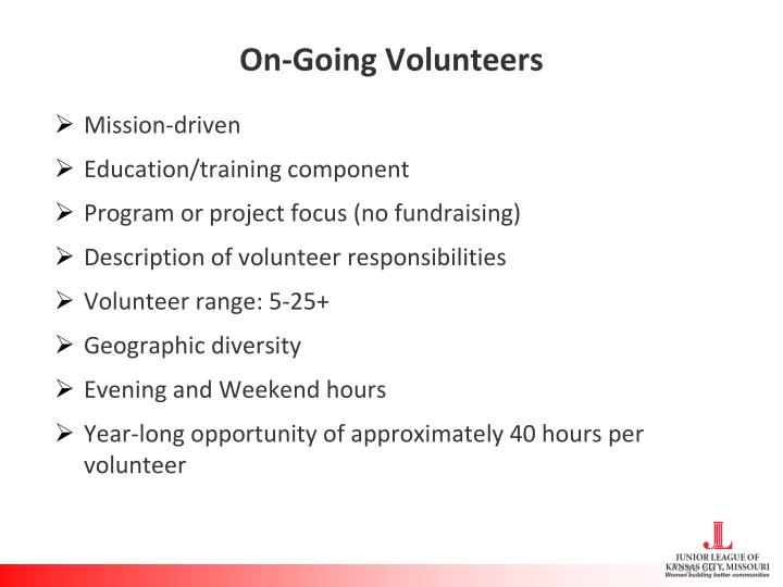 On-Going Volunteers
