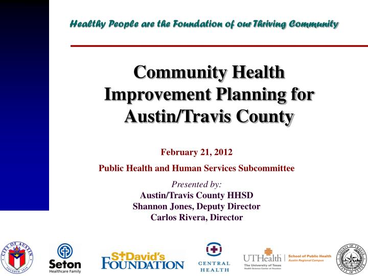 PPT - February 21, 2012 Public Health and Human Services