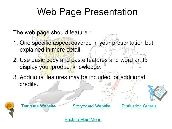 Web Page Presentation