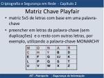 matriz chave playfair