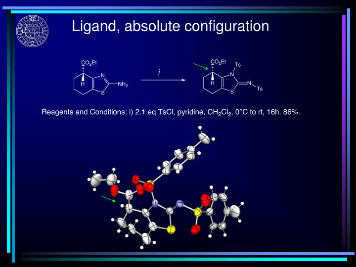 Ligand, absolute configuration