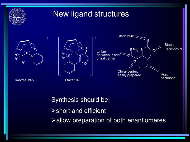 New ligand structures